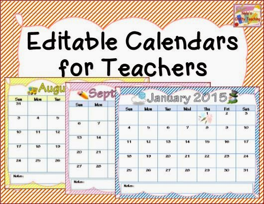 ... Teaching: Editable Calendars for Teachers - Ideas for Classroom Use