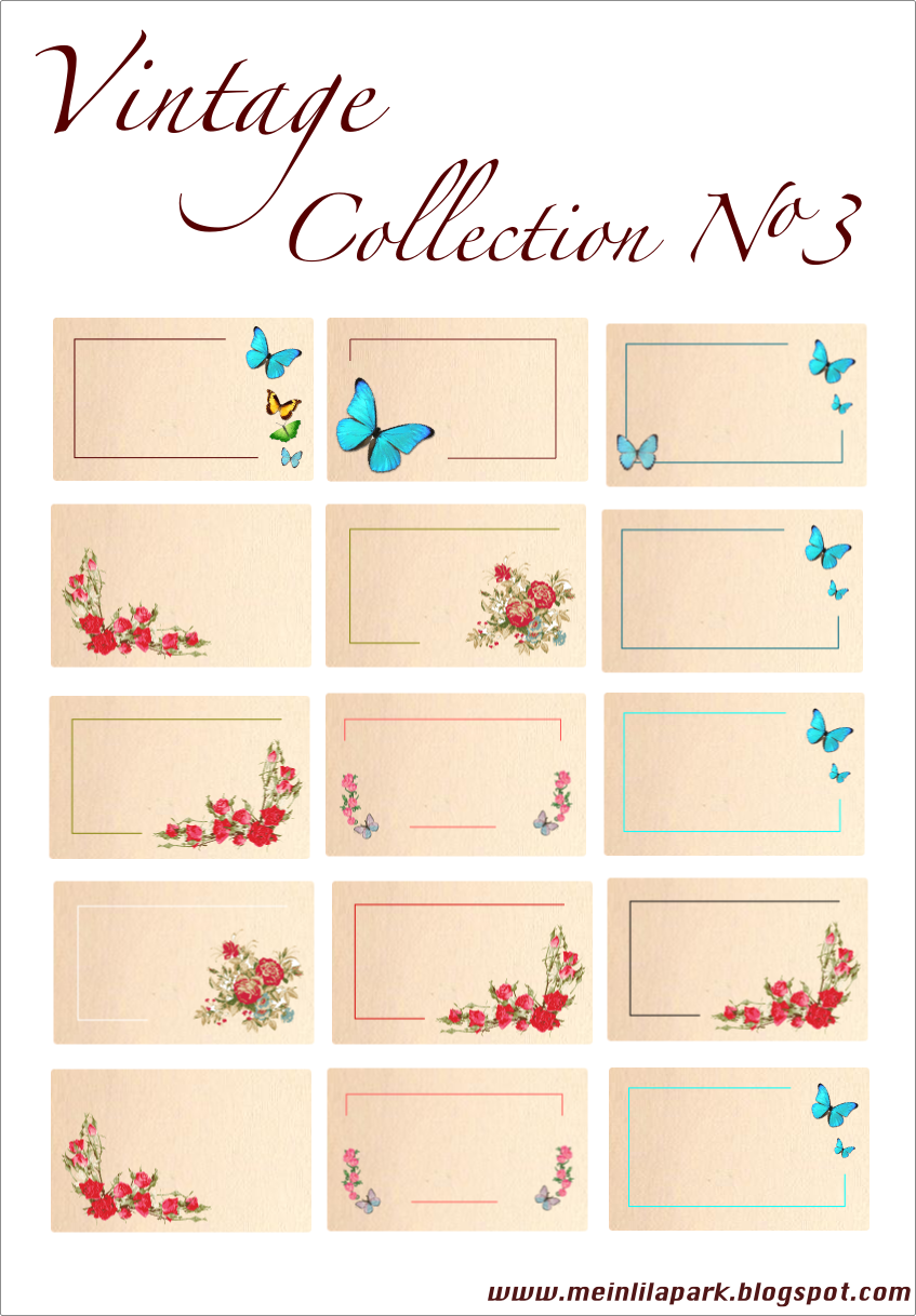 Free printable vintage tags and labels - Collection No 3 - freebie ...