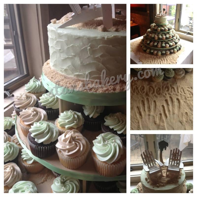 Cupcake Wedding Cake Leslies Cake Blog From Stans Northfield Bakery
