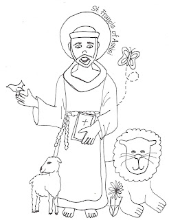 Look to Him and be Radiant Saints Coloring Pages St Francis of