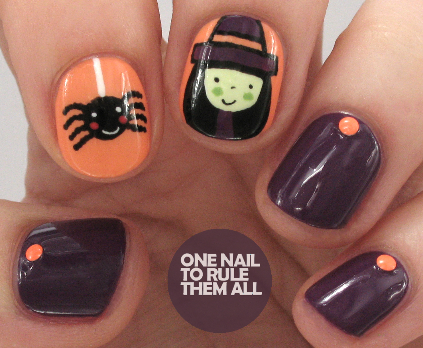 One Nail To Rule Them All Cute Halloween Witch