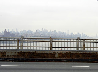 Crossing the Hudson River, views of Manhattan