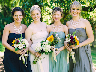 Lindsay and her bridesmaids - Wedding officiated by Patricia Stimac, A Heavenly Ceremony