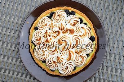 tarte mûres meringuée