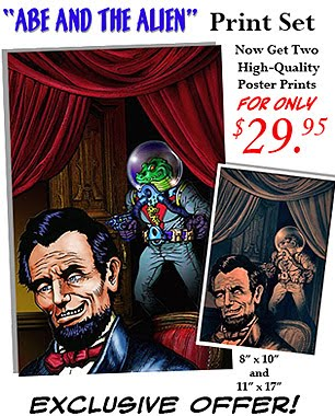 ABE AND THE ALIEN POSTER PRINTS! ON SALE NOW!