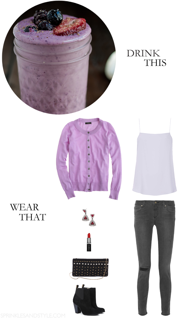 Drink This, Wear That: Berry Smoothie || Sprinkles and Style