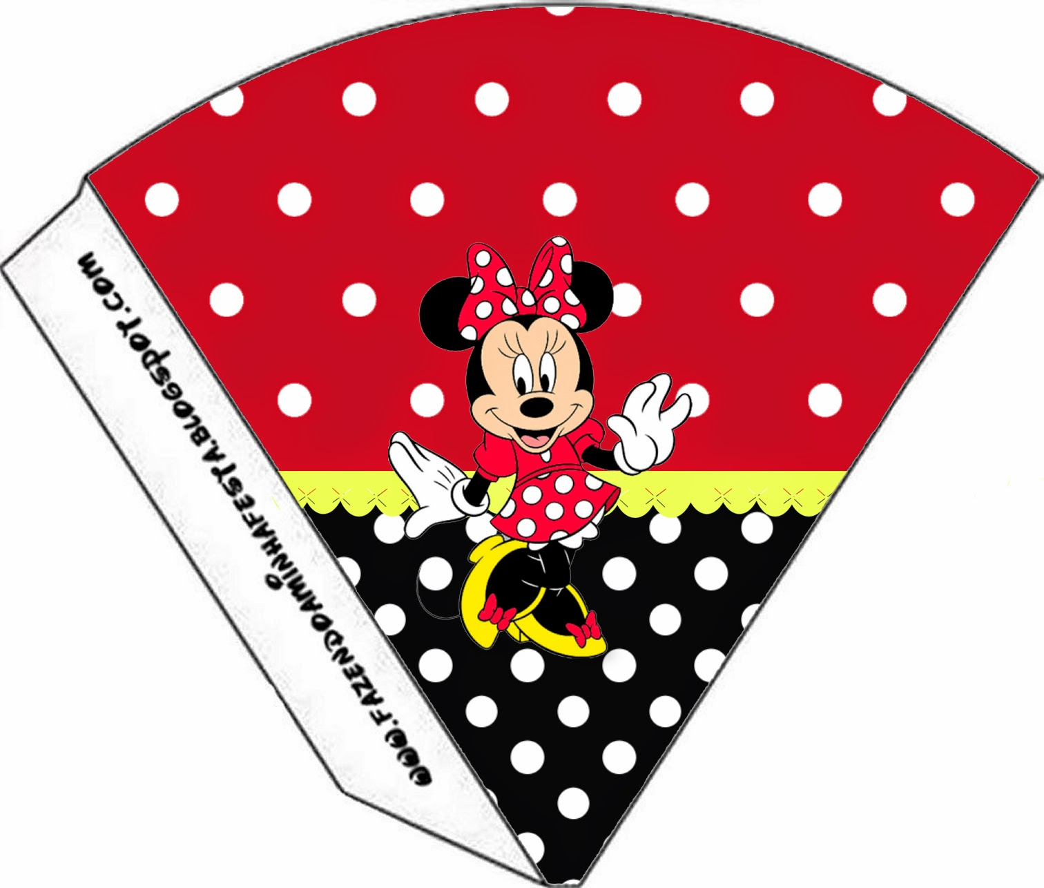minnie red black yellow and polka dots free party printables