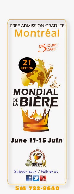 Montreal's Mondial de la bière - Click on the image to visit the website