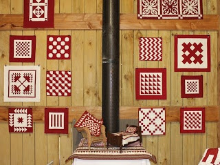 Little Quilts on a Barn Wall