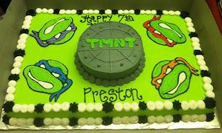 Ninja Turtle Sheet Cake