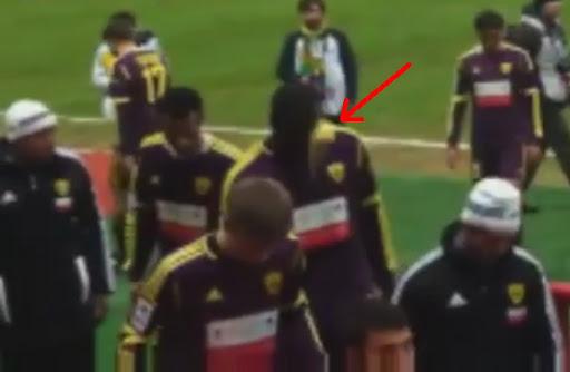 A banana thrown at Anzhi Makhachkala defender Chris Samba