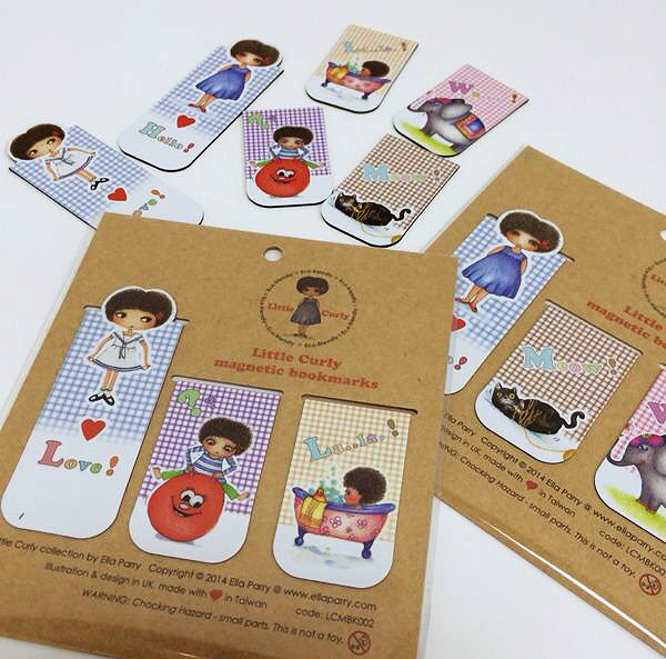 Little Curly magnetic bookmarks