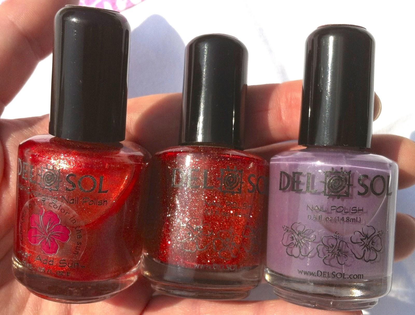 Make Up For Dolls: Del Sol Color Change Nail Polish