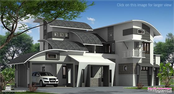 Unique contemporary house