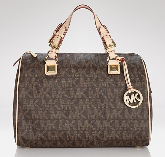 lust list- trendy satchels+michael kors satchels+satchels+ladies handbags+ Michael Kors Satchel Grayson Large Logo