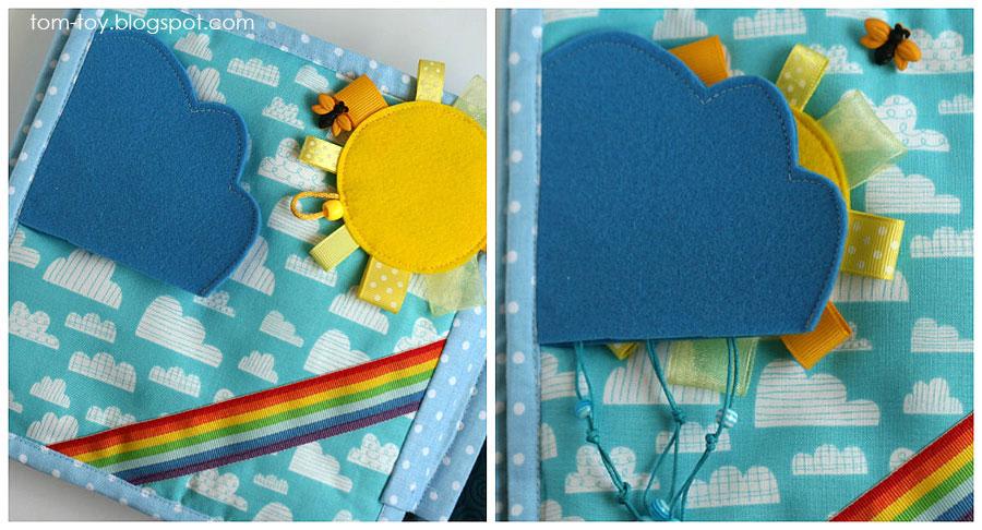 Handmade quiet book for Lucinda, fabric busy book, развивающая книжка