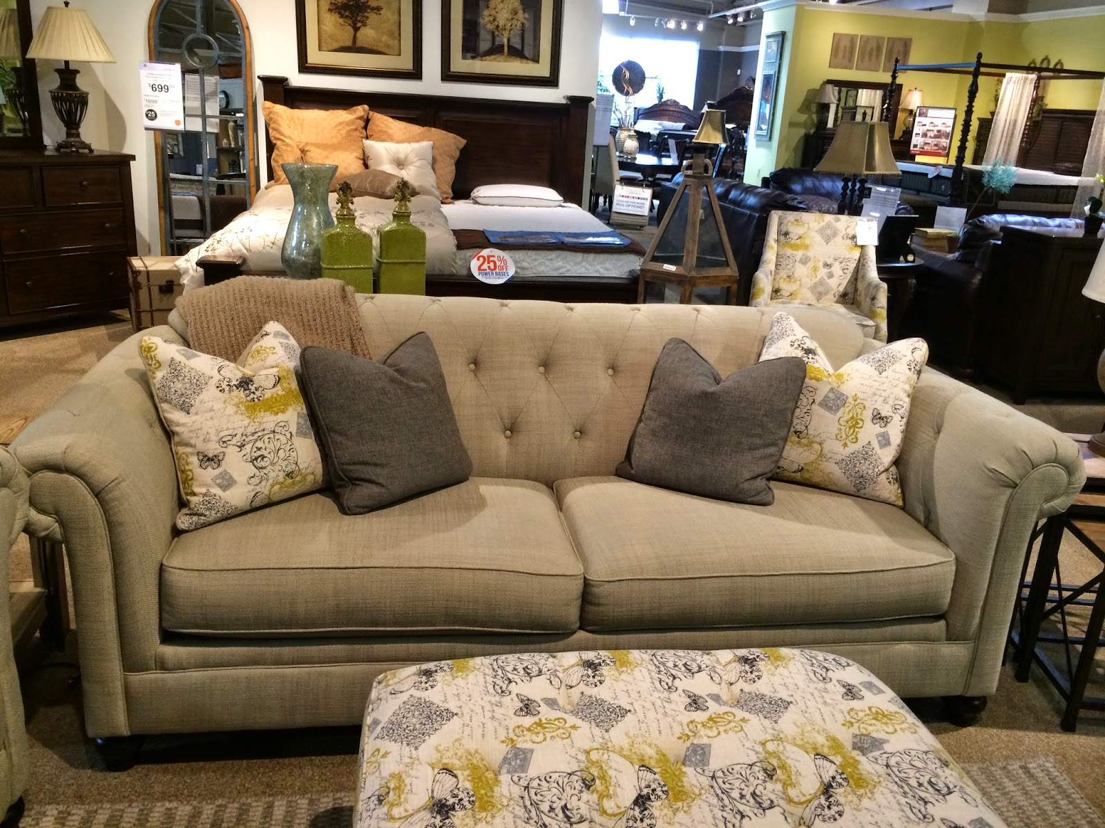Ideal Option This World Market slipcovered sofa was the right price but seemed just a little small and looked college to me and not grown up living room