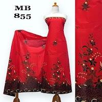 motif kain batik merah