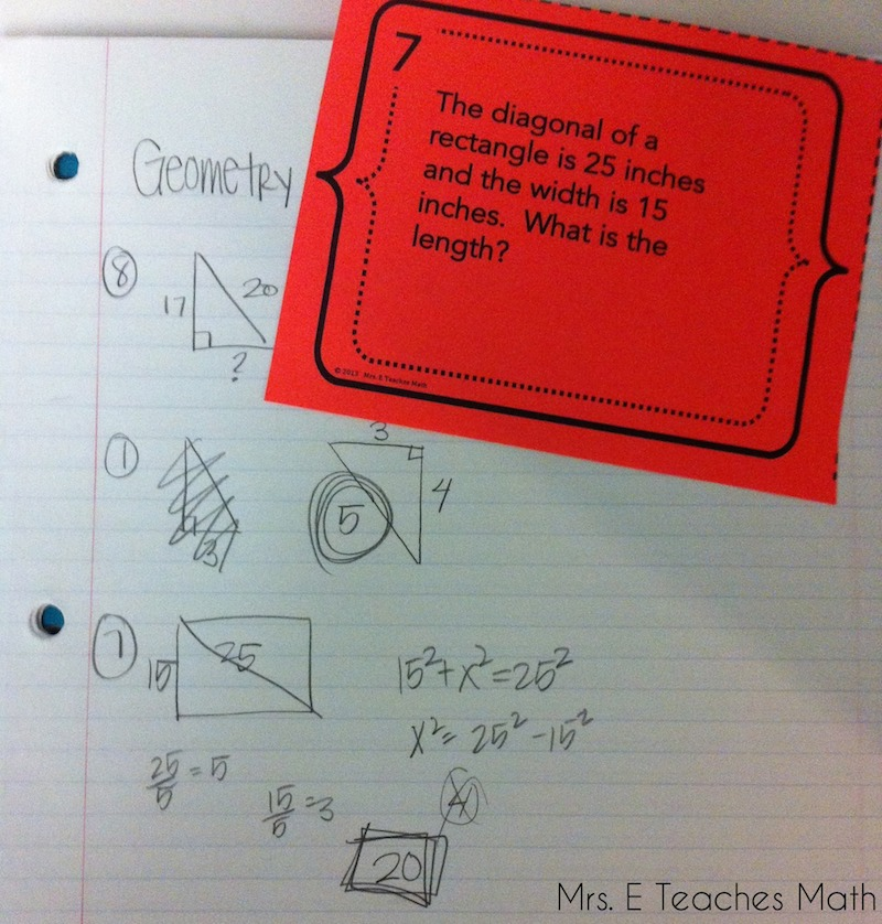 Ideas for Task Cards in the Secondary Classroom - Seatwork