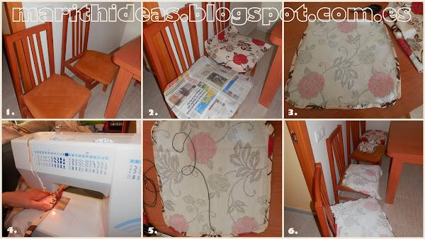 Como tapizar sillas aprender manualidades es - Tela para tapizar sillas de comedor ...