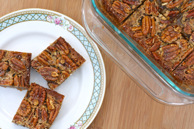 Salted Maple Pecan Pie Bars