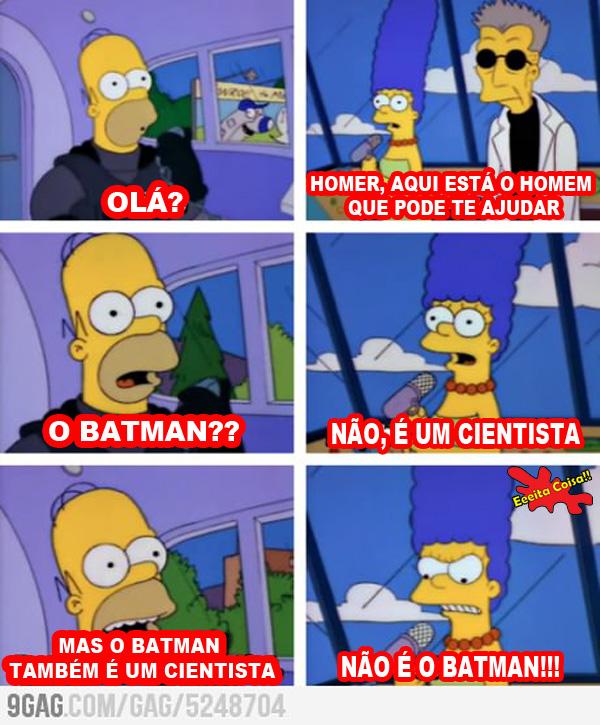 homer simpson, batman, cientista, argumentos, eeeita coisa