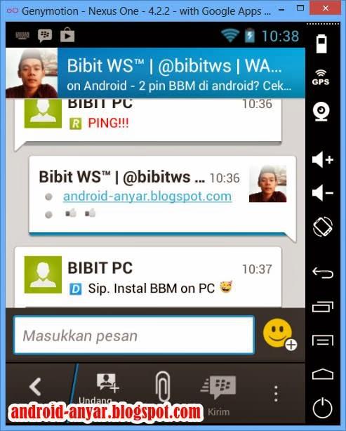 Langkah memasang aplikasi BBM for Android di Komputer Lengkap dengan Gambar
