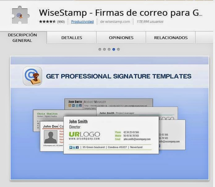 WISE STAMP  Extension Google Chrome