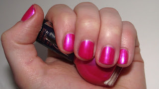 Miss Sporty Lasting Colour Nail Polish Review - 380 Hot Pink Swatch