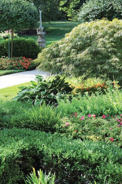 jardin con parterres