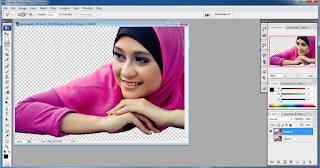 manipulasi photoshop cs5 untuk seleksi dengan polygonal lasso tool