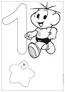DesenhosNumeros de 1 a 10turma da mônicaColorir e Pintar