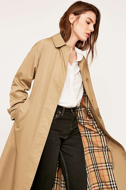 urban renewal vintage originals single breasted Burberry trench coat, vintage Burberry mac,