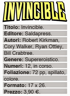 saldapress spillato invincible dati fumetto