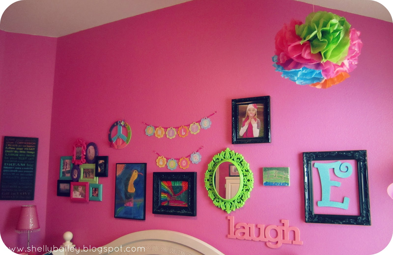 Shelly's Creations: Wall Collage for my Daughter's Room