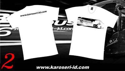 "Kaos Karoseri Indonesia ""Bus & Furious 6"" White"