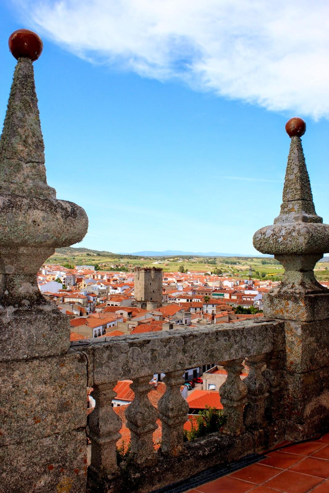 Vistas de Coria desde la torre campanario de la catedral
