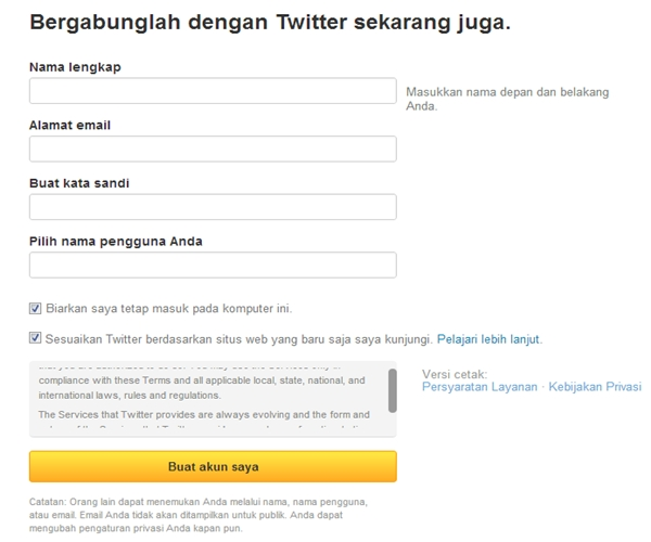 Cara Membuat Twitter Indonesia