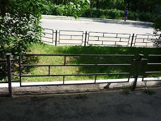Забор металлический из профильной трубы. Фото 10