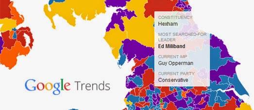 Maps Mania The UK Election Based on Google Trends – 2015 Uk Election Map