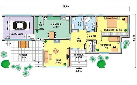 Planos de casas modelos y dise os de casas planos de for Casas modernas 80 metros cuadrados
