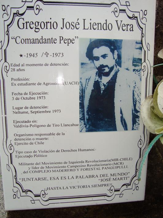 """Rinden homenaje a José Gregorio Liendo """"Comandante Pepe"""". ex estudiante de agronomía..."""