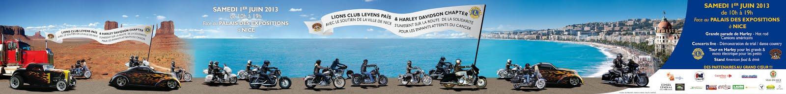Le Lions Club Levens Païs & Harley Davidson Chapter Nice avec le soutien de la ville de Nice