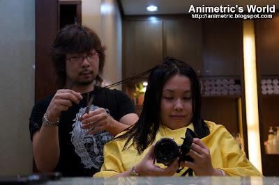 Japanese haircut at Shuji Kida Hair Salon