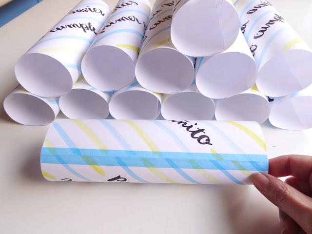 Cerrar cilindro con washi tape