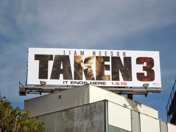 Taken 3 film billboard
