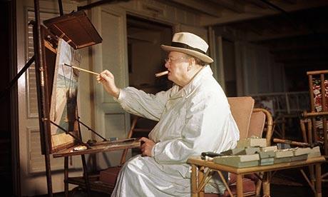 Художники  по  вторникам.   Уинстон  Черчилль  и  его  картины.