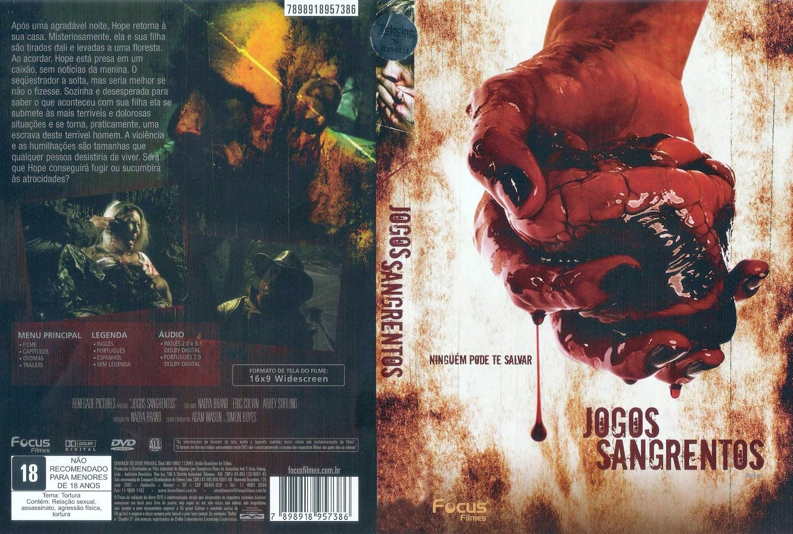 Capa DVD Jogos Sangrentos