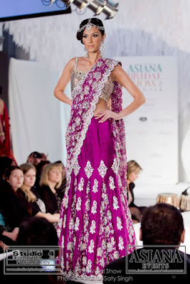 purple lengha choli with silver embroidery by Ekta Solanki