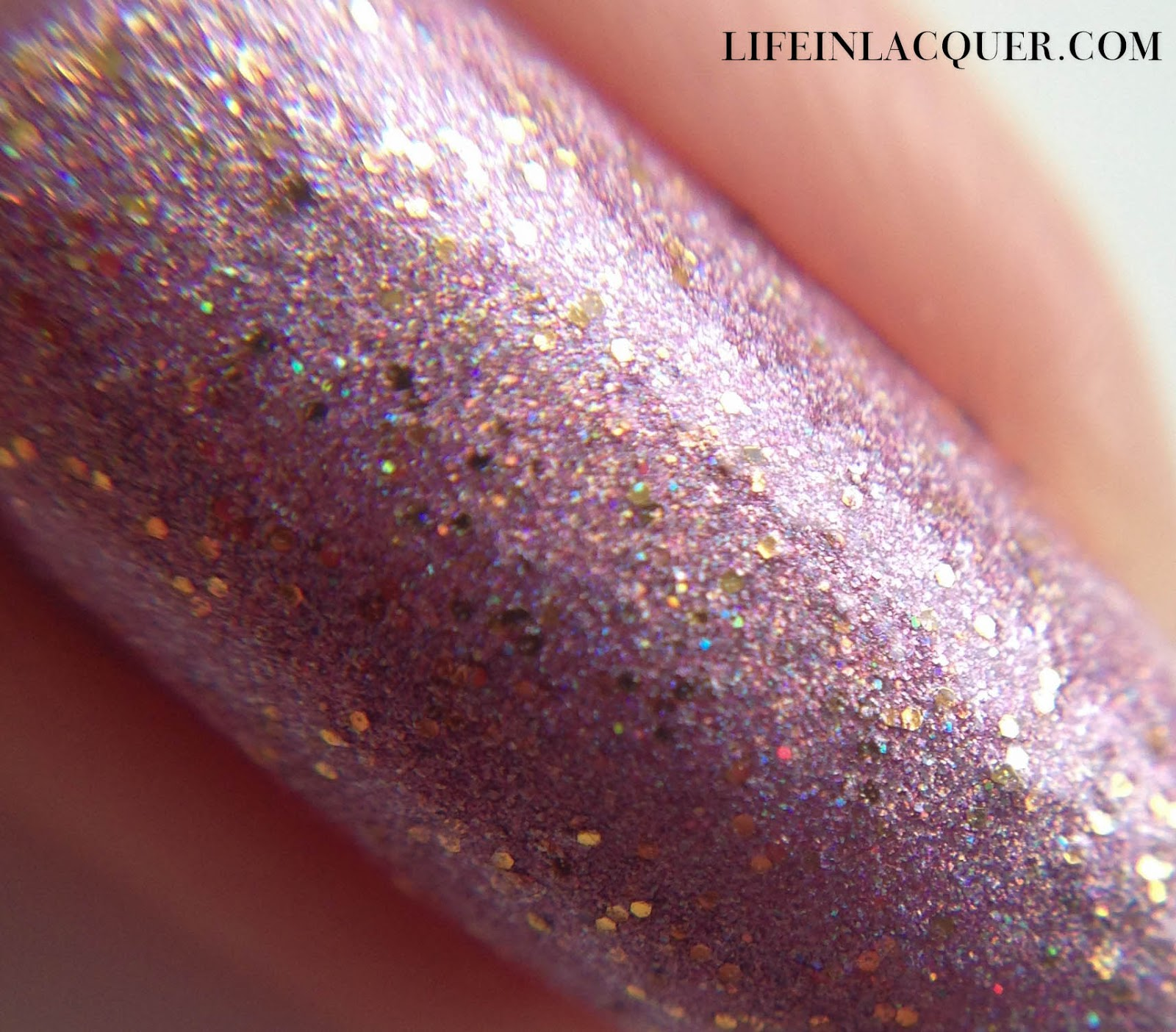 Macro Shot of Gleneagles Glamour Handmade polish by Tami Beauty